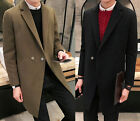 Men's High Quality Padded Winter Warm Overcoat Casual Long Trench Coat Jacket