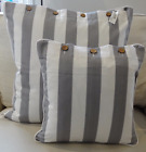 SOFT GREY AND WHITE CUSHION COVER AVAILABLE IN 2 SIZES  CASUAL HAMPTONS ELEGANCE