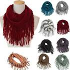 Внешний вид - Girl's Children Tunnel Fishnet Fringe Net Cowl Infinity Warm Winter Scarf Gifts