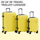 3/4pcs Luggage Travel Set With Lock 4 Wheels Bag Trolley Case Carry On Suitcase