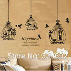 Birds Cage Wall Decal Quote Home Decor Art Mural Vinyl Removable Wall Sticker