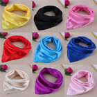 Women Lady Small Square Satin Silk Scarf Smooth Wrap Scarves Handkerchief FH