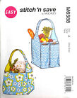 """MCCALL'S PATTERN TOTES WITH POCKETS 11"""" W X 13"""" L and 15"""" W X 13"""" L EASY # M6588"""