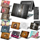 "Wood Painted Rubberized Hard Case Cover For Macbook Pro Air 11"" 13"" 15 Touch +KB"