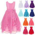 Flower Girl Dress Chiffon Irregular Tulle Gown for Kids Party Wedding Bridesmaid