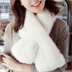 New Arrival Women Winter Warm Soft Faux Rabbit Fur Thick Infinity Scarf Hot Sell