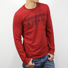 New Abercrombie Fitch A&F by Hollister Men applique graphic long sleeve tee