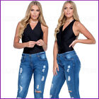 New Black Bodysuit Top Leotard Stretch Fitted Vest T Shirt Womens Ladies Uk Size