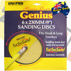 "Uni-Pro Genius Turbo Sand Discs 6 x 230mm (9"") 120, 150, 180 and 220 Grit"