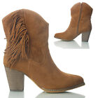 NEW WOMENS LADIES MID HEEL ANKLE FULLY LINED SIDE ZIP  WINTER  BOOTS SIZE 5 7 8