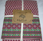 April Cornell Red, Black, Off-White & Green Foulard Medallion Tablecloths--NWT