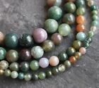 """Indian Agate round gemstone beads. 15"""" strand. Size 4mm-10mm SP166"""