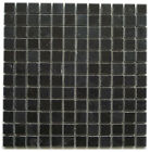 NEW BLACK CHARCOAL POLISHED SOLID STONE MOSAIC TILES BORDER STRIP & FULL SHEET