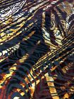 Polyester Spandex Burnout Velvet Animal Design Fabric