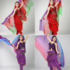 Belly Dance Costume Gradient Color imitated Silk Shawl Veil 220120cm Scarfs US