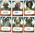 2017 Topps Star Wars The Last Jedi Red Auto Autograph Card #ed / 99 - YOU PICK $124.95 USD on eBay