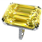 Newly Jewelry 925 Silver Citrine Rings Topaz Gemstone Romantic Gifts Women Lady