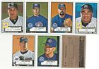 2001 Topps Heritage BLACK BACK Parallel Base Set Subset Single Cards 6 Available
