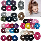 12pc Assorted Elegant Velvet Hair Scrunchies Scrunchy Ponytail Holder Tie Lot 5""