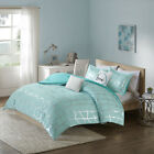Intelligent Design Raina Metallic Print Comforter Set