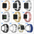 Tracker Stainless Steel Strap Watch Band + Metal Frame For Fitbit Blaze Stylish