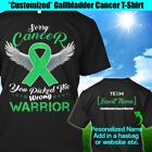 Personalized Gallbladder Bile Duct Cancer T-Shirt Warrior Kelly Green Ribbon