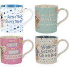 Boofle Best Auntie Grandad Mummy Handsome Boyfriend Nan Wife Coolest Person Mug