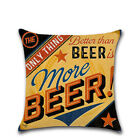 Retro Wine Beer Bottle Printing Soft Sofa Pillow Case Cushion Cover Home Decor