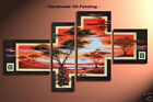 Framed Large Wall Art Modern African Tree Landscape Oil Painting on Canvas S3013