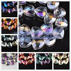 18mm Faceted Triangle Briolette Drilled Crystal Glass Charms Spacer Beads