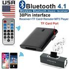 Black 30PINS Bluetooth Music Audio Receiver Adapter for Apple iPhone Smartphone.