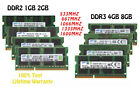 For Samsung RAM 4GB 4G 2GB 2G 1GB Laptop Memory DDR2 DDR3 2Rx8 SO-DIMM Kits Lot
