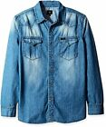 Lee Tops Mens Heritage Western Long Sleeve Denim Shirt S- Pick SZ/Color.