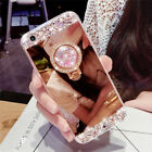 Luxury Mirror Soft Case Phone Cover DIY Bling Rhinestone For iPhone Sumsung