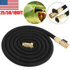 Durable Expandable Hose 25/50/100ft Flexible Water Garden Hose Pipe Watering US