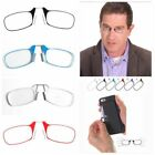 Portable Mini Nose Clip Reading Glasses with Case 1.5 2.0 2.5 Strength
