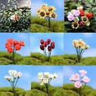 1~6X Miniature Dollhouse Simulation Flower Rose Fairy Garden DIY Bonsai Decor FO