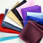5pcs. silk Satin Pocket Square Hanky Wedding Party Handkerchief lots of colours