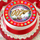 JAMES BOND 007 RED STAR BORDER 7.5 INCH PRECUT EDIBLE CAKE TOPPER DECORATION $3.71 USD on eBay