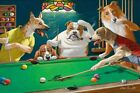 Home Wall Dogs Playing Pool billiards Oil Painting Picture Printed On Canvas VI $11.77 USD on eBay