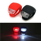 2pcs Mini LED Bicycle Bike Silicone Head Front Rear Back Tail Safety Lamp Light