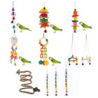 Colorful Swing Bird Parrot Rope Harness Hammock Hanging Toys Parakeet Cockatiel