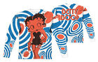 """Betty Boop """"Mod Rings"""" Dye Sublimation Double Sided Long Sleeve Tee"""
