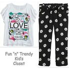 NWT Justice Girls Size 6 Daisy Crop Pants Capris & Tee Shirt Top 2-PC OUTFIT