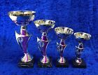 Silver / Purple Award Trophy Dance Equestrian Martial Arts Boxing FREE engraving