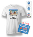 PERSONALISED T-SHIRT YOUR IMAGE CUSTOM PRINTED WITH TEXT STAG HEN PARTY TEE