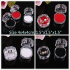 Color Choice 10 or 20 Crystal Clear Ring Box Jewelry Gift Boxes Case Tray Inside