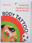 Temporary Tattoo Wales FLAG Welsh rugby football Supporter