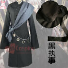 Hot! Black Butler Kuroshitsuji Undertaker Cosplay Costume + Hat AA.1112