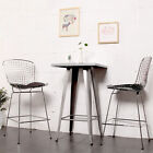 Mod Made Chrome Wire Counter-Height Chair with Removable Leatherette Seat Pad
